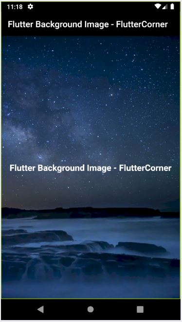 How to set Background Image to Scaffold in Flutter