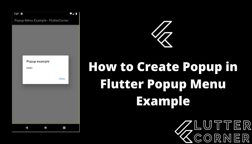 How to Create Popup in Flutter Popup Menu Example