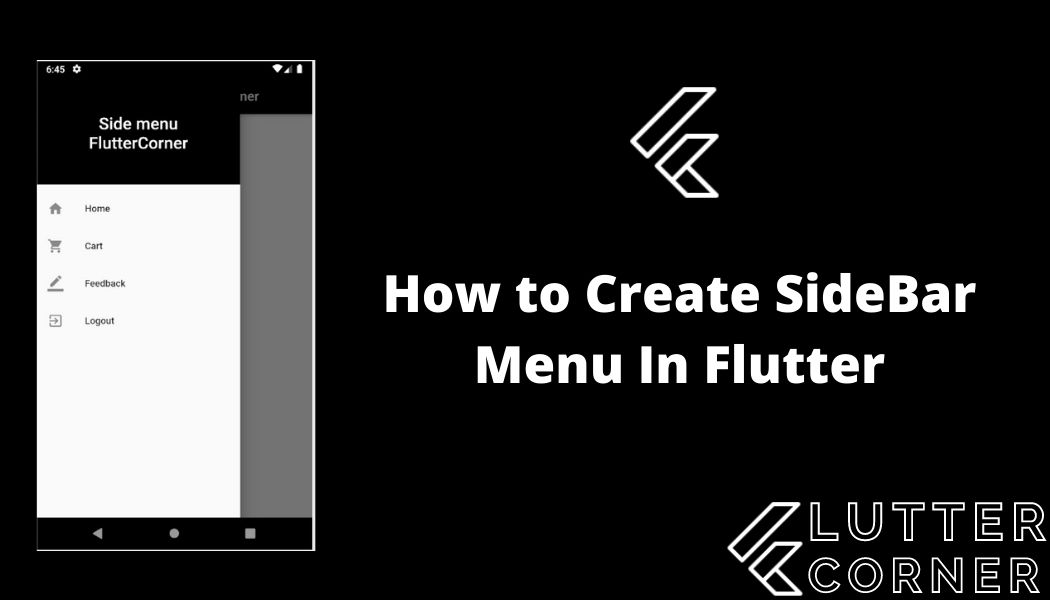 How to Create SideBar Menu In Flutter