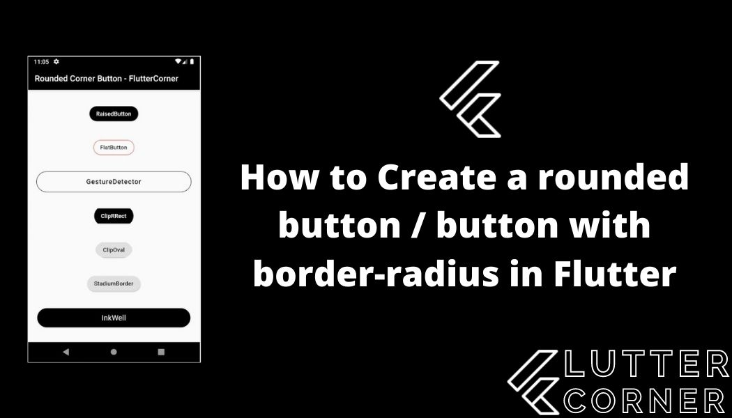 How to Create a rounded button button with border-radius in Flutter