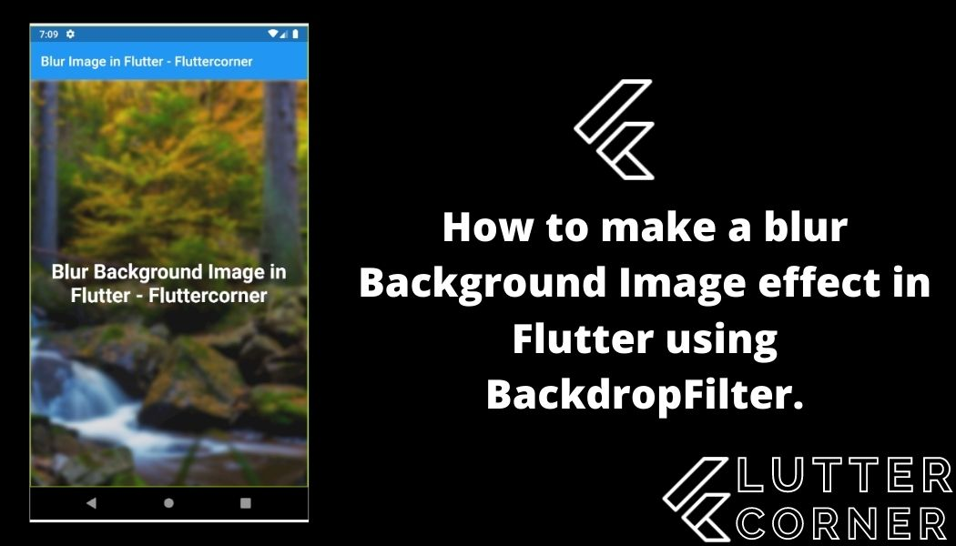 How to make a blur Background Image effect in Flutter using BackdropFilter.