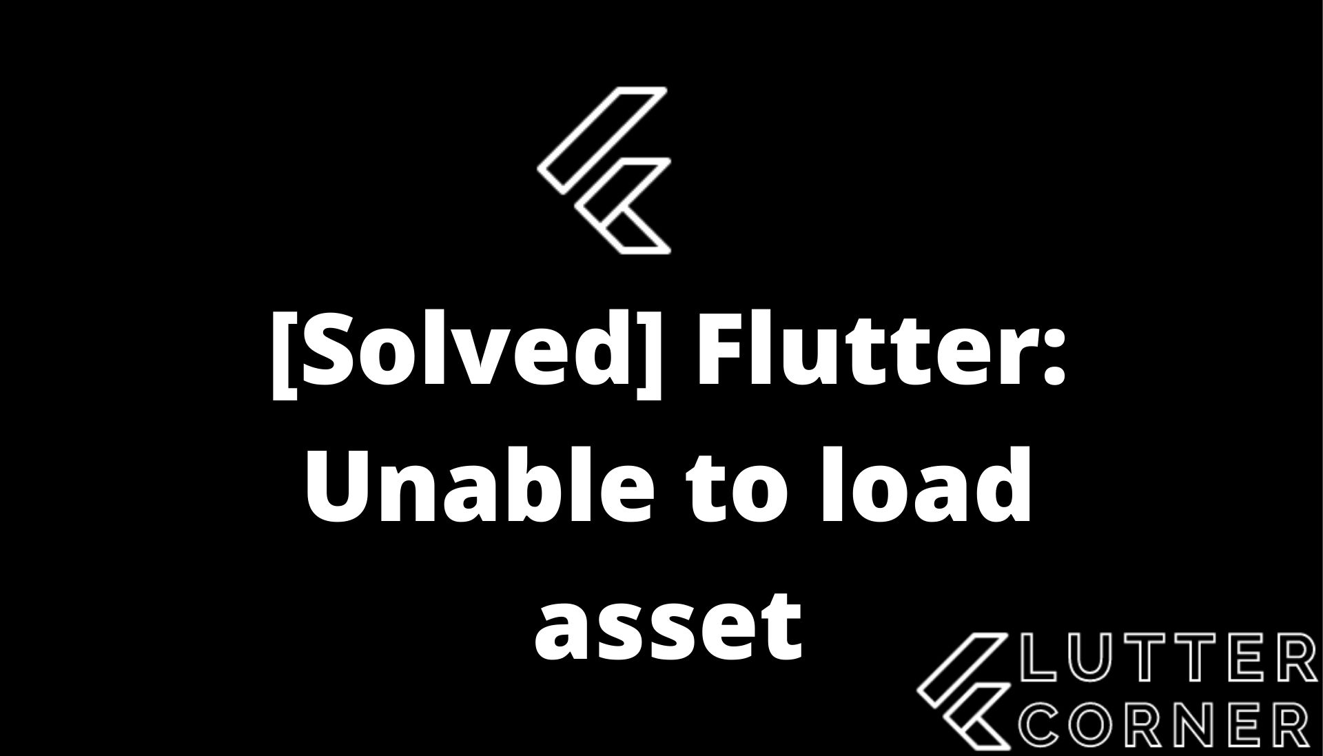 unable to load asset, Unable to load asset Flutter, load asset in flutter, Unable to load asset in Flutter