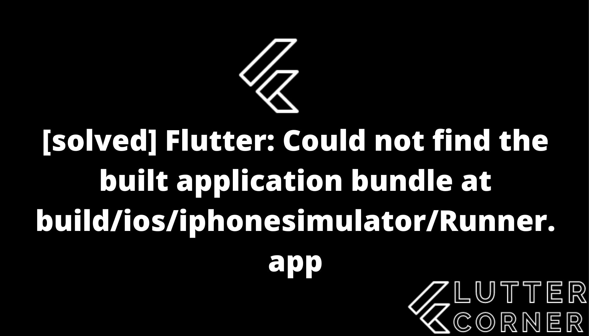 built application bundle at build/ios/iphonesimulator/runner.app, Could not find the built application bundle at build/ios/iphonesimulator/Runner.app, Flutter: Could not find the built application bundle at build/ios/iphonesimulator/Runner.app